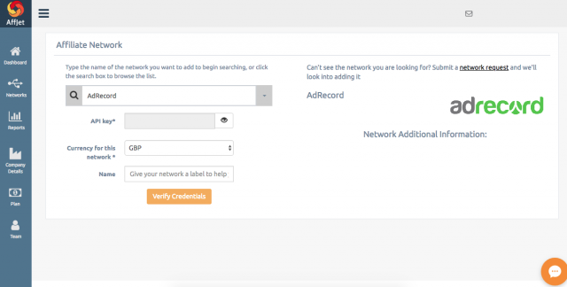 Adding networks to AffJet
